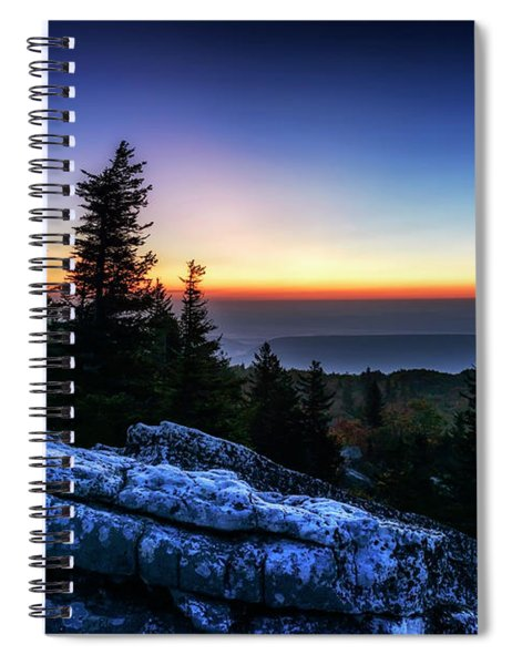 Dawn At Bear Rocks Preserve Spiral Notebook