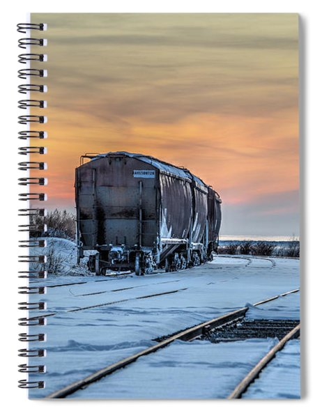 Spiral Notebook featuring the photograph Day's End by Rod Best