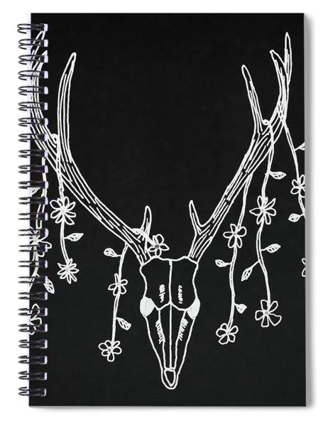 Deer Skull Spiral Notebook