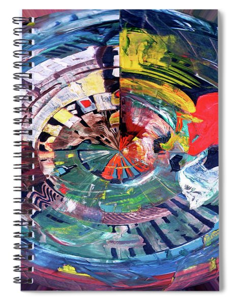 Digital Woman In Red Spiral Notebook