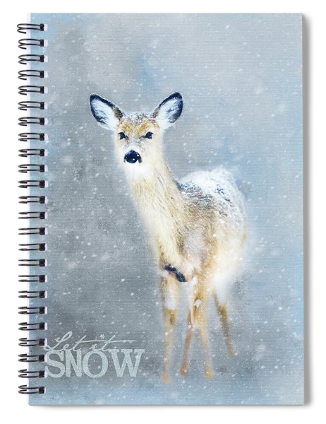Doe In The Snow Spiral Notebook