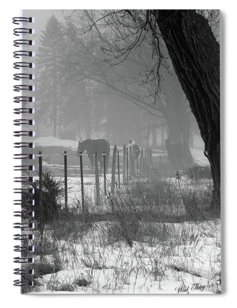Down The Lane Spiral Notebook