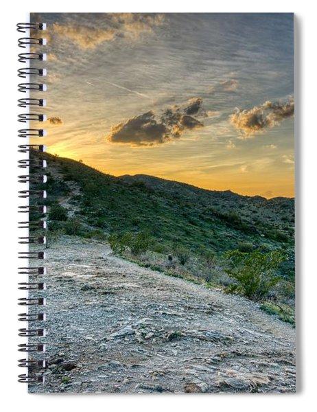 Dramatic Mountain Sunset  Spiral Notebook