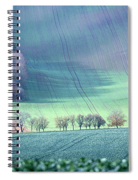 Autumn In South Moravia 1 Spiral Notebook