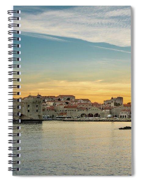 Dubrovnik Old Town At Sunset Spiral Notebook