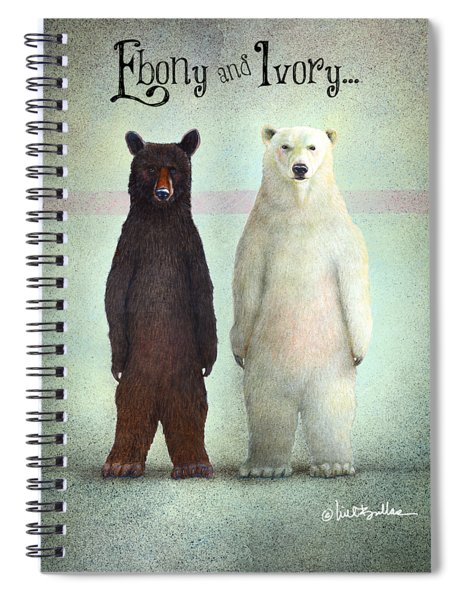 Ebony And Ivory... Spiral Notebook
