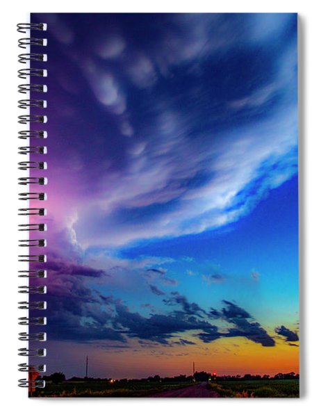 Epic Nebraska Lightning 007 Spiral Notebook