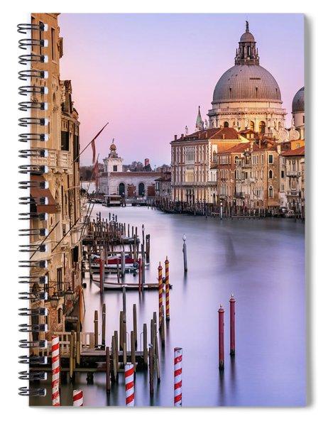 Evening Light In Venice Spiral Notebook