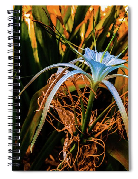 Flower With Tentacles Spiral Notebook