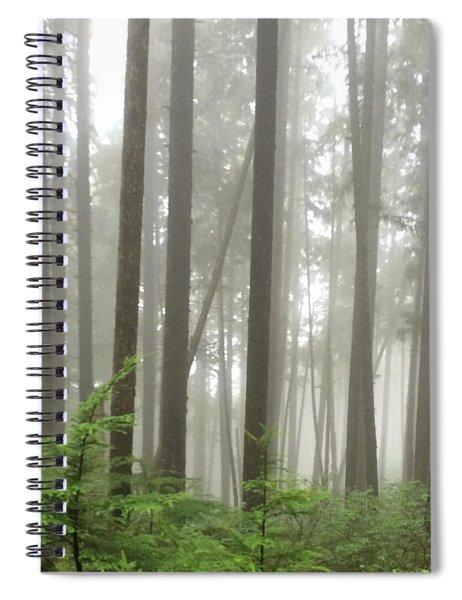 Foggy Forest Spiral Notebook by Karen Zuk Rosenblatt