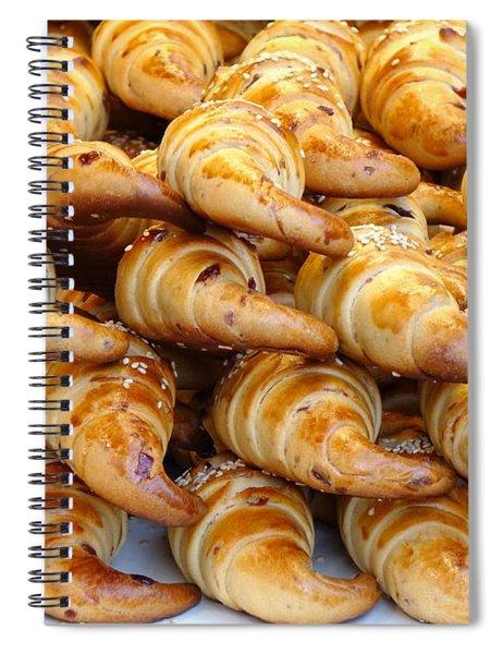Freshly Baked Croissants Spiral Notebook