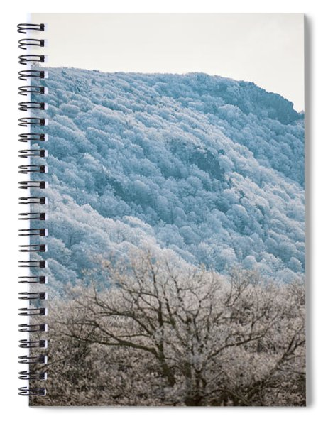 Frost On The Mountain Spiral Notebook