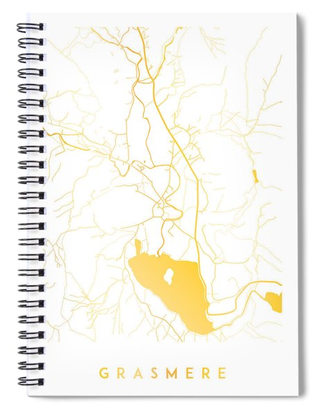 Grasmere Map Spiral Notebook