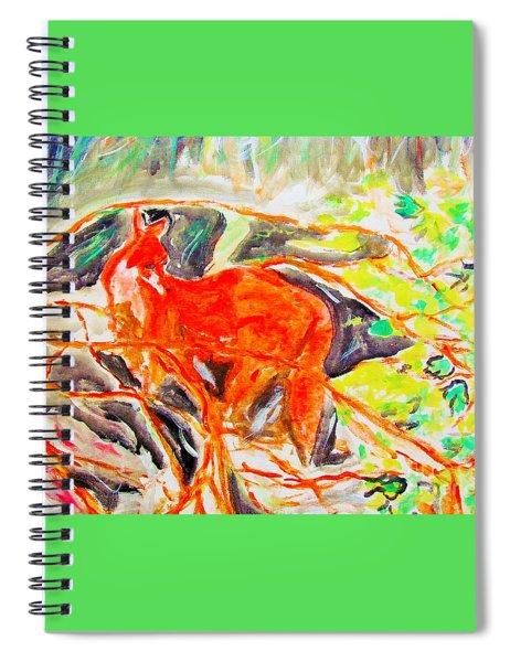 Hidden Fox Spiral Notebook