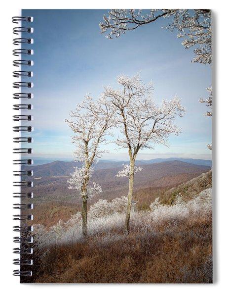 Hoarfrost Gathers Spiral Notebook