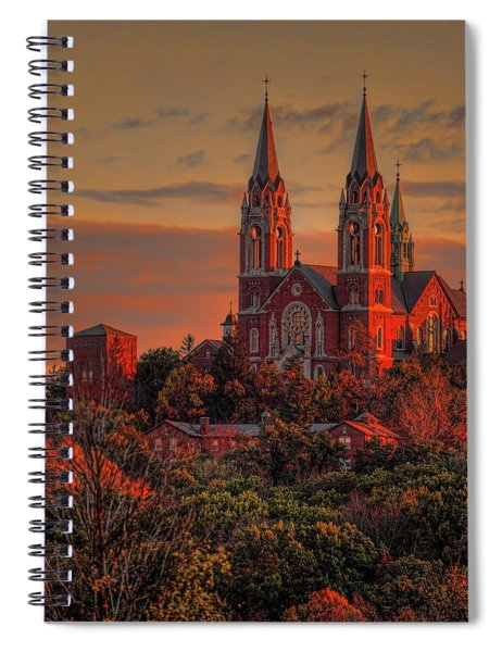 Holy Hill Sunrise Square Spiral Notebook