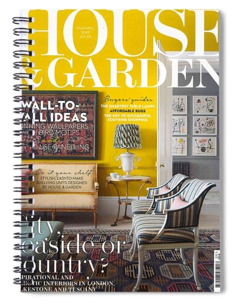 House And Garden September Spiral Notebook