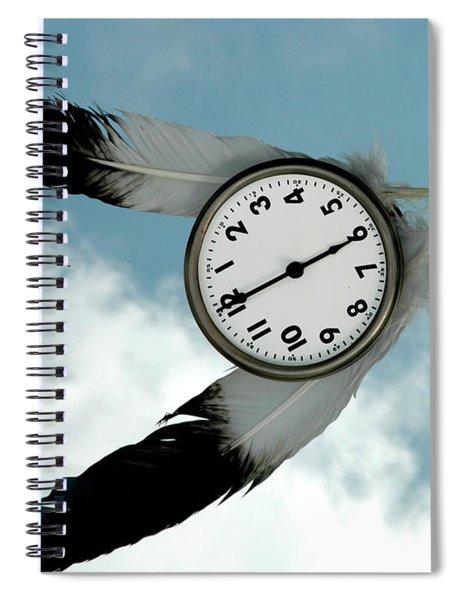 How Time Flies Spiral Notebook