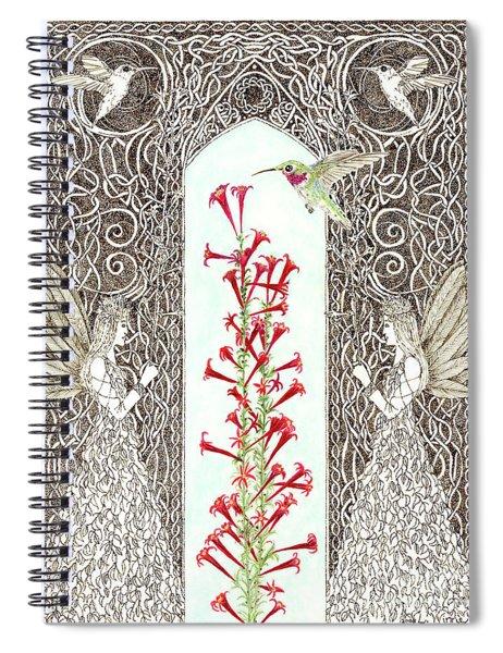 Hummingbird Sanctuary Spiral Notebook