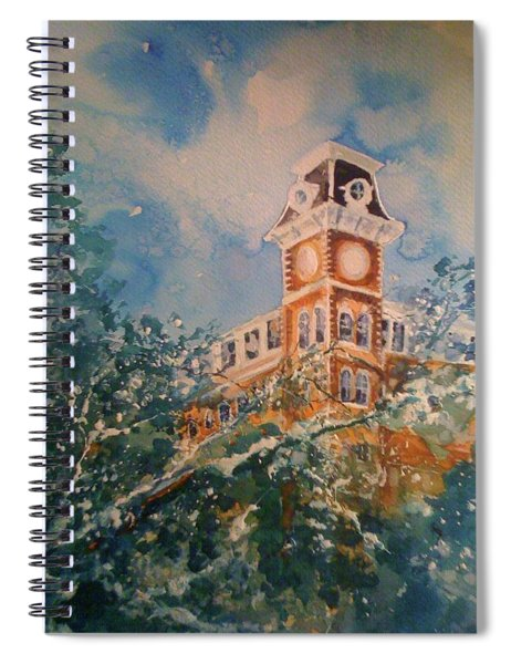 Ice On Old Main Spiral Notebook