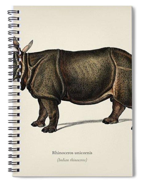 Indian Rhinoceros  Rhinoceros Unicornis  Illustrated By Charles Dessalines D  Orbigny  1806 1876  Spiral Notebook