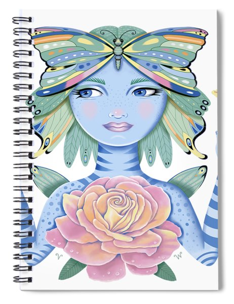 Insect Girl, Winga, With Rose Spiral Notebook
