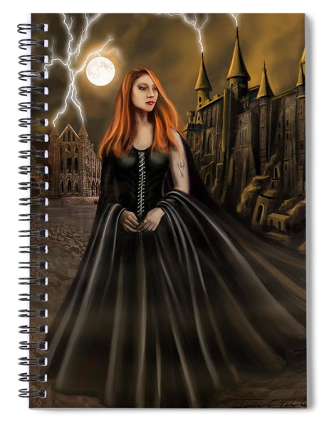 Into The Fire Book Cover  Spiral Notebook