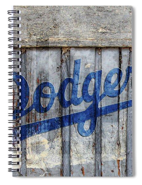 La Dodgers Rustic Spiral Notebook