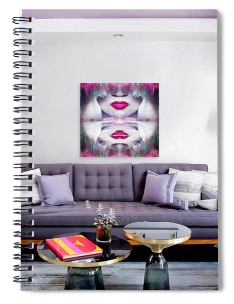 Lady-fashion-beauty Spiral Notebook