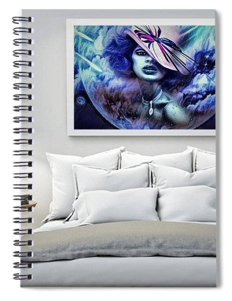 Lady Moon Light Spiral Notebook