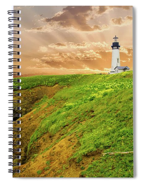 Lighthouse On  Yaquina Head  Spiral Notebook