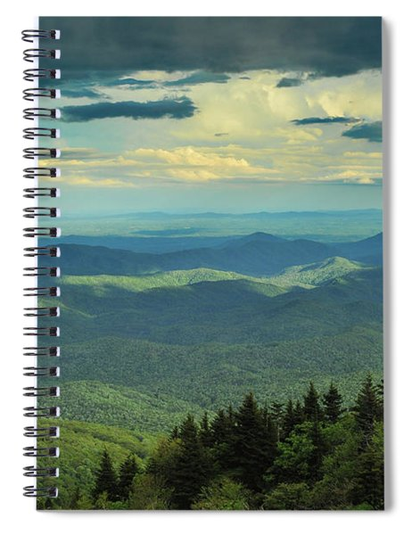Looking Over The Valley Spiral Notebook