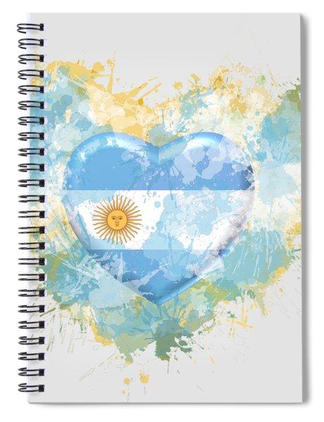 Love Argentina Spiral Notebook