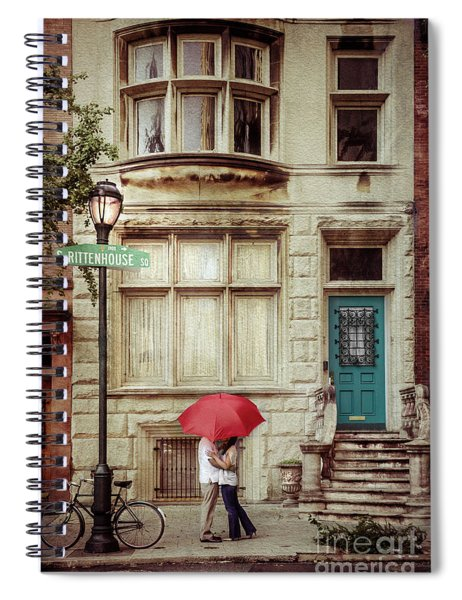 Love On The Square Spiral Notebook