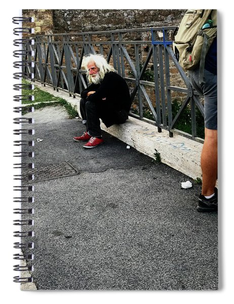 Man Of   The Pyramid Of Cestius Spiral Notebook