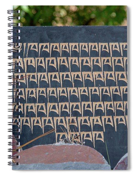 Mani Stones On The Kora In Mcleod Ganj Spiral Notebook