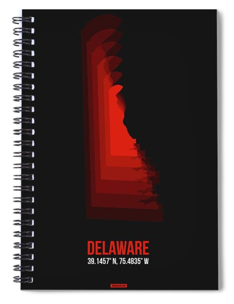 Map Of Delaware Spiral Notebook