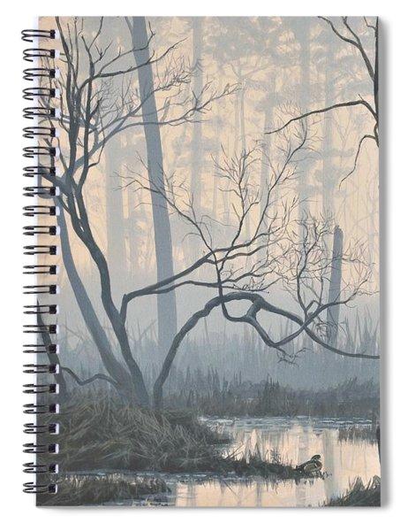 Misty Hideaway - Wood Duck Spiral Notebook