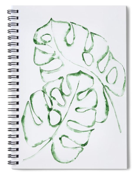 Monstera Leaves Spiral Notebook