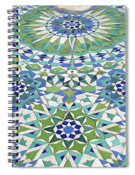 Mosaic Exterior Decorations Of The Hassan II Mosque Spiral Notebook