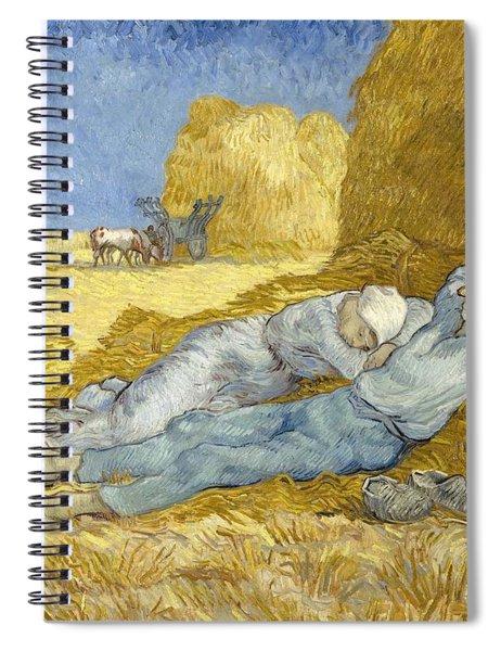 Noon - Rest From Work Spiral Notebook