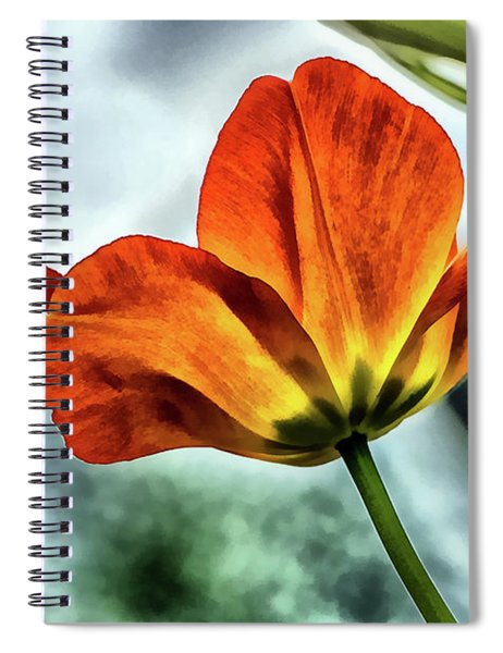 Painting Tulip Flower Spiral Notebook