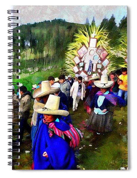 Palm Sunday In Cajamarca.- Peru Spiral Notebook