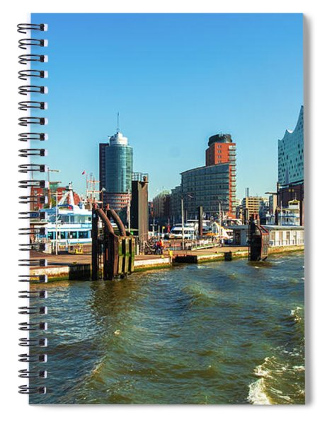 Panoramic View Of Hamburg. Spiral Notebook