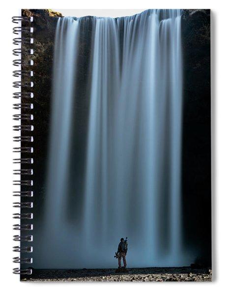 Amongst Giants Skogafoss Iceland Spiral Notebook