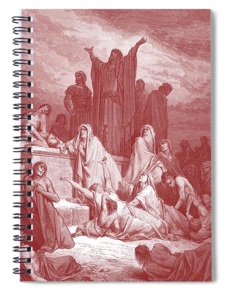 Plague Of Jerusalem, Drawing By Dore Spiral Notebook