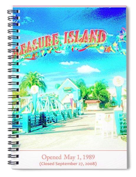 Pleasure Island Sign And Walkway Downtown Disney Spiral Notebook