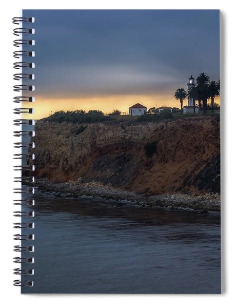 Point Vicente Lighthouse At Sunset Spiral Notebook