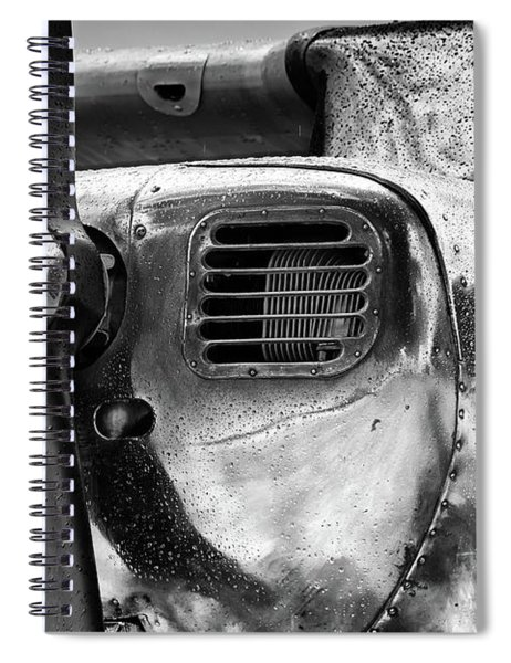 Polished Metal In The Rain Spiral Notebook