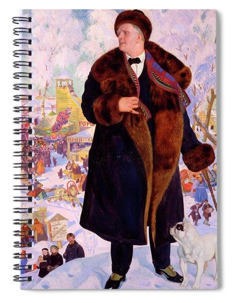 Portrait Of Fyodor Chaliapin Spiral Notebook